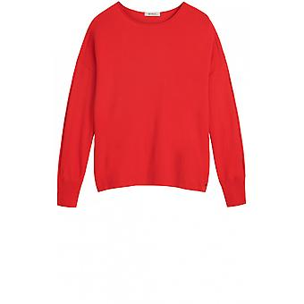 Sandwich Clothing Red Fine Knit Jumper