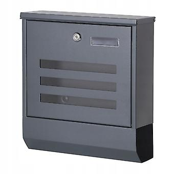 Stainless steel letterbox for newspaper letters