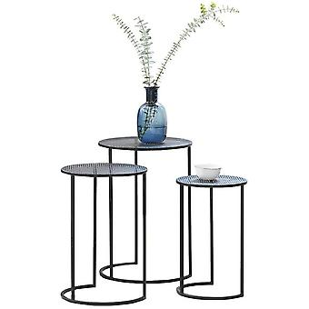 LIFA LIVING Nest of 3 Tables, Round Coffee Tables for Small Spaces, Modern Side Tables