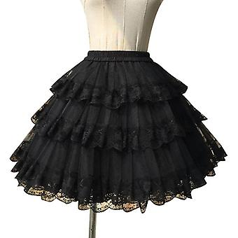 Sweet White/black Cosplay Pettiskirt Lace Lolita Petticoat/tutu Skirt