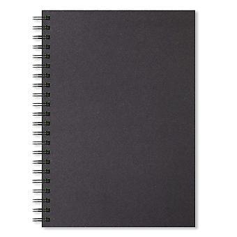Artgecko schaduwrijk schetsboek (a4 portret) - 80 pagina's (40 vellen) 200gsm zuurvrije zwarte kaart a4 portra