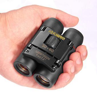 Dflamepower mini 30x60 compact folding binoculars telescope with waterproof for adults/kids/outdoor