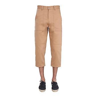 Ami E21ht612280250 Men's Bege Cotton Pants