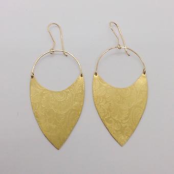 Art Nouveau Brass Earrings