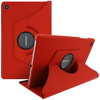 Omslag Samsung Galaxy Tab A7 10.4 2020 Case met Rotary Support Functie 360° rood