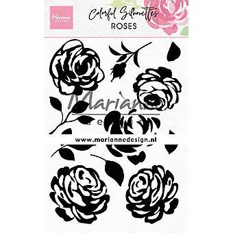 Marianne Design Jasne znaczki Kolorowa sylwetka - Róże Cs1046 110x150mm