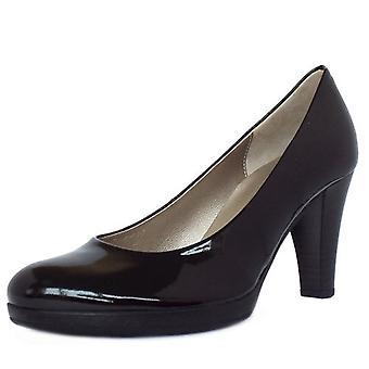 غابور سوريا السيدات عالية كعب المحكمة الأحذية في براءة اختراع سوداء