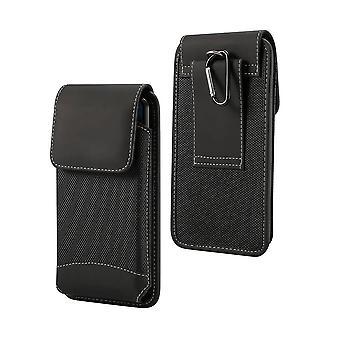 Boîtier de ceinture pour TCL 10 Plus (2020) Cover Vertical Leather & Nylon