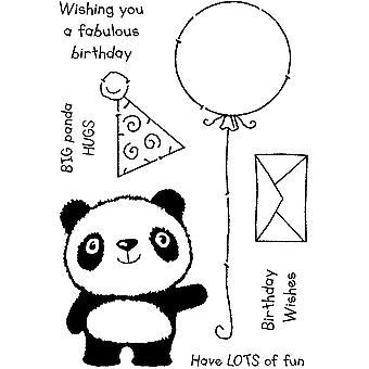 Woodware Clear Singles Panda День рождения 4 в х 6 в штамп