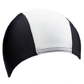 BECO 80% Polyester / 20% Elastane Fabric Adults Swim Cap-Black/White