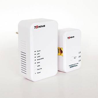 Wired Speed Homeplug Av Powerline Ethernet Adapter Wifi Hotspots Wireless