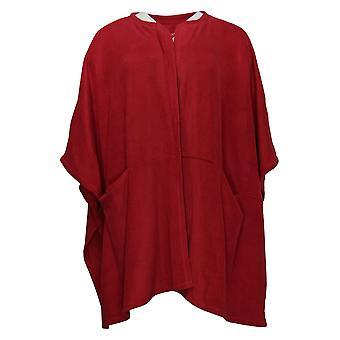 Cuddl Duds Women's Sweater Fleecewear Stretch Wrap Rouge A381797
