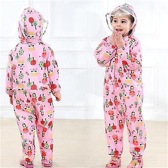 Raincoat Jumpsuit, Waterproof Cartoon Rainwear, Hooded Rain Pants For &