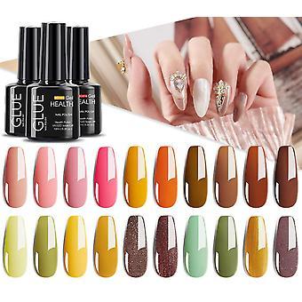 Gel Nail Polish Glitter For Manicure, Nail Art Semi Platium, Uv Led Lamp,