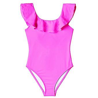 Neon Pink  Ruffle Swimsuit