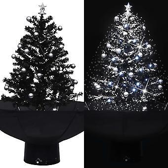 傘ベースブラック75センチPVCとvidaXL雪のクリスマスツリー