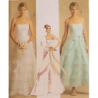 McCalls نمط الخياطة 5046 يفتقد مساء ثوب اللباس قمم التنانير حجم 10-16