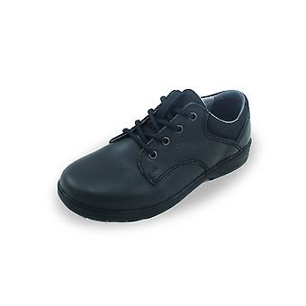 Ricosta harry black lace-up school shoes