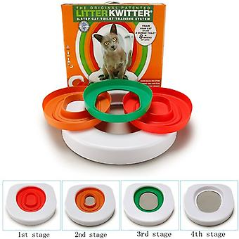 Best Plastic Cat Toilet Training Kit Litter Box Puppy Cat Litter Mat Cat Toilet Trainer Toilet Pet Cleaning Cat Training Product