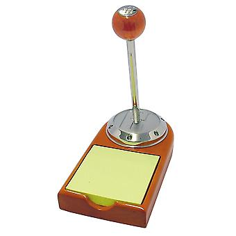 GTP Unisex Gear Knob Pen & Memo Pad In Cherrywood Finish and Chrome Plated Alloy Gift Set IMP435CW