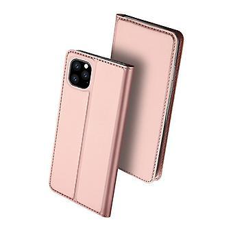 Dla iPhone 11 pro przypadku odporne anty spadek klapka klapa okładka różowe złoto