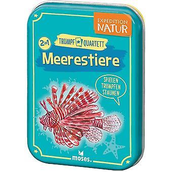 moses. 9599 Expedition Natur Trumpf Quartett Meerestiere | Kartenspiel fr Kinder ab 8 Jahren, bunt