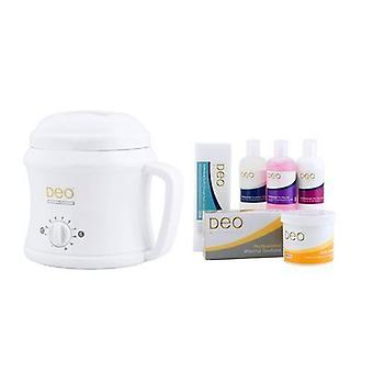 DEO Heater Kit with 10 Settings for Warm Crème & Hot Wax Lotions - White - 500cc