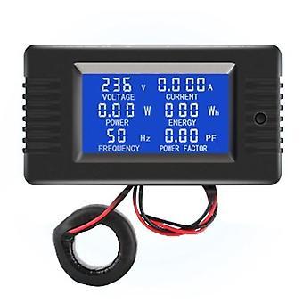 AC Digital Display Power Monitor Meter Voltmeter Ammeter Frequency Meter