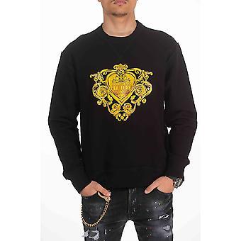 Sweatshirt Black Versace Jeans man