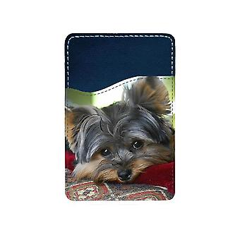 Yorkshire Terrier Mobile Phone Adhesive Card Holder