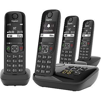 FengChun AS690A Quattro 4 Schnurlose Telefone mit Anrufbeantworter , Display mit Jumbomodus ,