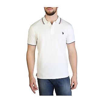U.S. Polo Assn. - Tøj - Polo - 59619-101 - Mænd - hvid, rød - 3XL