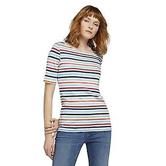 Tom Tailor 1026643 Camiseta a rayas, Mulitcolor azul melocotón 26250, MUJER XXXL