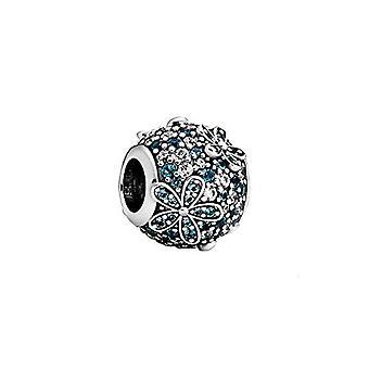 Pandora Aquamarin Pave - Ciondolo a forma di margherita, 1,2 cm, colore: Turchese