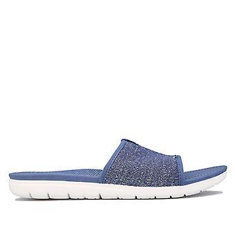 Dames Fit Flop Uberknit Slide Sandals in Blauw
