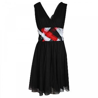 Apanage Sleeveless Weave Detail V-neck Dress