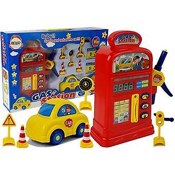 Speelgoed benzinepomp + accessoires en auto