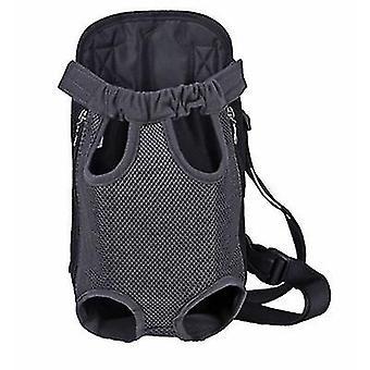 L 38 * 23cm gri în aer liber sac portabil pentru animale de companie, rucsac plasă respirabil pentru pisici și câini az7791