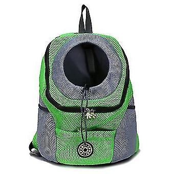 S 30 * 34 * 16cm umăr verde portabil câine de călătorie rucsac pentru animale de companie az6478