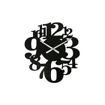 Rebecca möbler klocka att hänga klockor Mdf svarta nummer stora 55x50x4.5