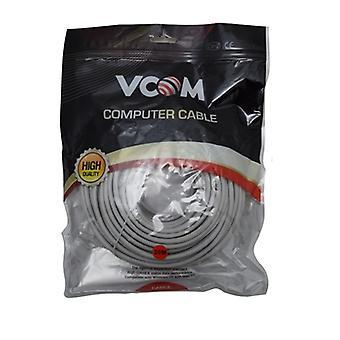 VCOM RJ45 (M) til RJ45 (M) CAT5e 20m Grå Detailhandel Pakket støbt Netværk Kabel
