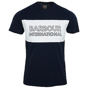 Barbour international men's navy line logo t-shirt