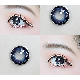 目コン夢の夜空シリーズsm48072のための新しい0色のコンタクトレンズ