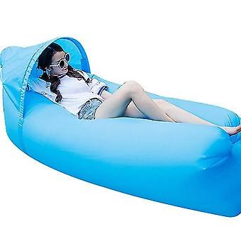 Inflatable Lounger Best Air Lounger Sofa For Camping, Hiking For Pool(Lightblue)