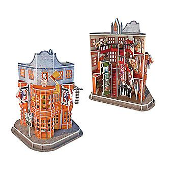 Harry Potter Diagon Alley Weasleys' Wizard Wheezes 3D Jigsaw Puzzle