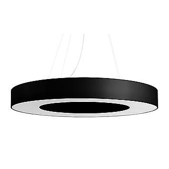 Cylindriskt hänge Ljussvart 70cm E27