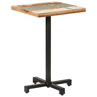 "vidaXL ביסטרו שולחן מרובע 50x50x75 ס""מ עץ ממוחזר מוצק"