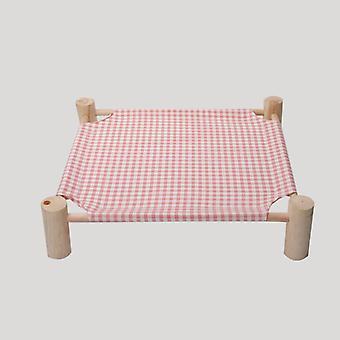 מיטת כלב מחמד נשלפת וניתן לכביסה מעץ מלא