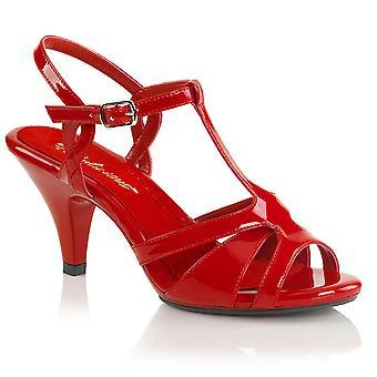 Fabulicious Frauen's Schuhe BELLE-322 Rot Pat/Rot