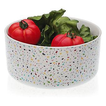 Salaattikulho Vivid Terrazzo Posliini (22,2 x 11 x 22,2 cm)